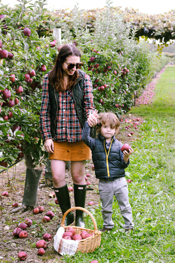 Bennett and Nicole Fall Apple Picking