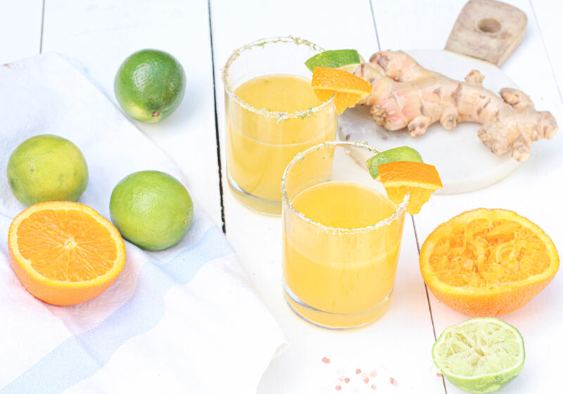 Image of Orange Ginger Margaritas SEE GLASS